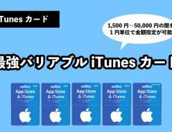 iTunesカード 金額 指定